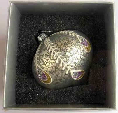 Украшение елочное шар ЛУКОВИЦА ПАВЛИН, с росписью, серебряный, 1 шт., 8 см, стекло украшение елочное шар павлин серебряный с оранжевым 1 шт 8 см стекло