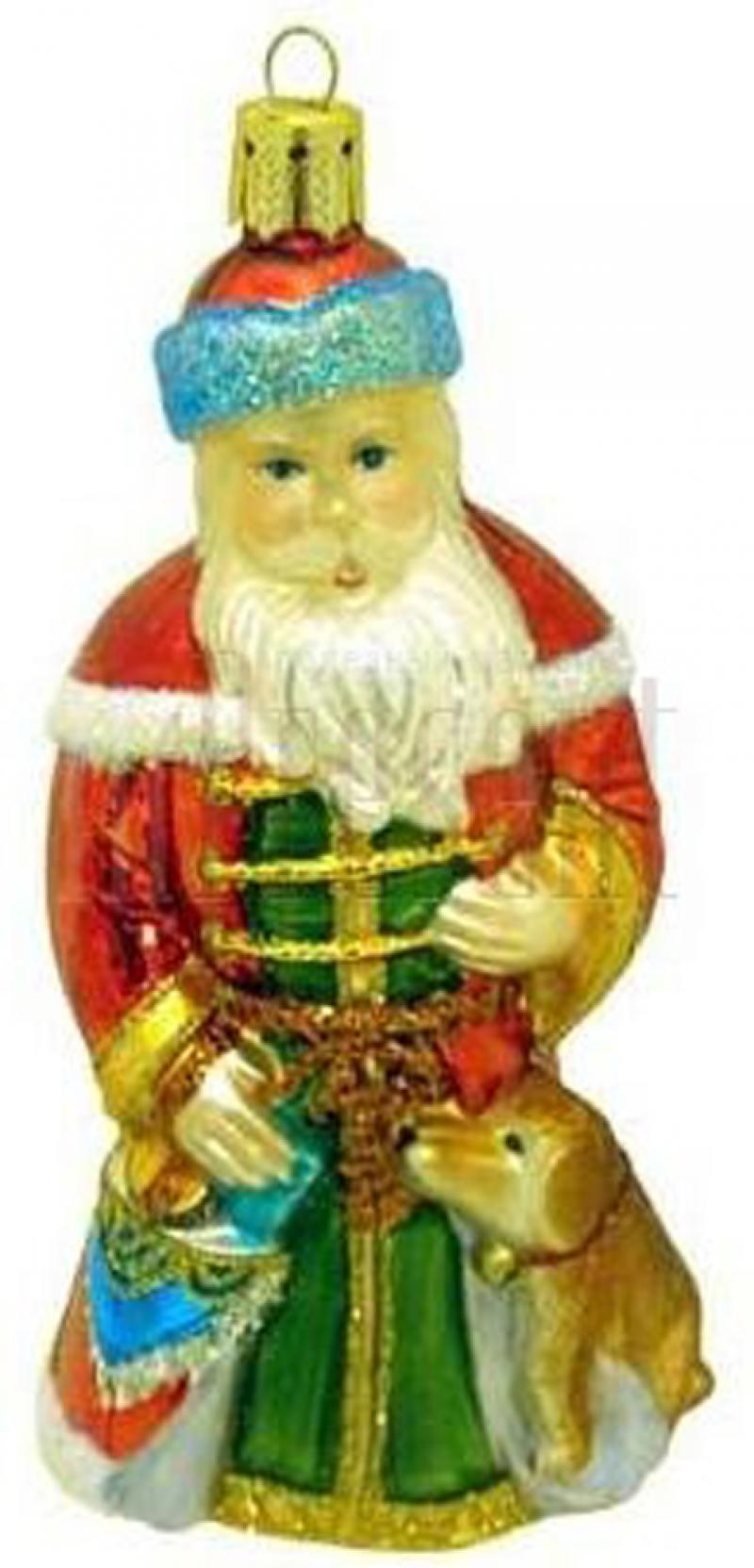Украшение Winter Wings Дед Мороз с Подарками в Красной Шубе 12 см 1 шт разноцветный стекло N07118
