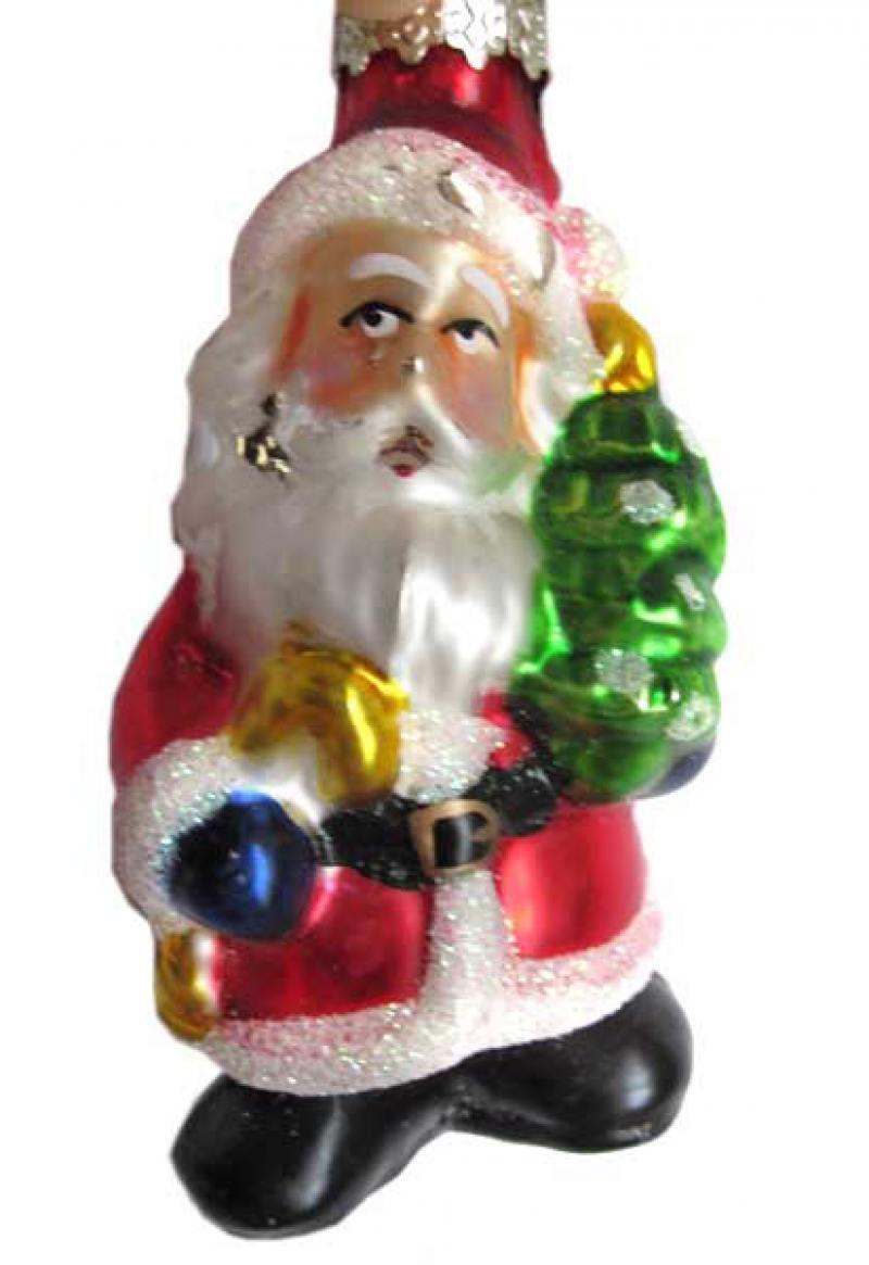 ДЕД МОРОЗ С ЕЛКОЙ, стеклянный, 1 шт. в картонной коробке, 9 см новогодний сувенир luazon дед мороз под елкой 1353359