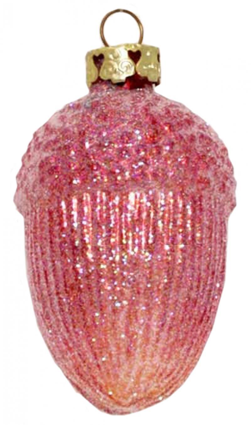 Украшение елочное ШИШКА, 1 шт.,7 см, стекло цена и фото