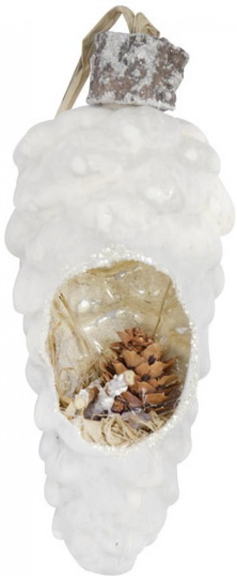 все цены на Украшение елочное ШИШКА, 12 см, стекло онлайн