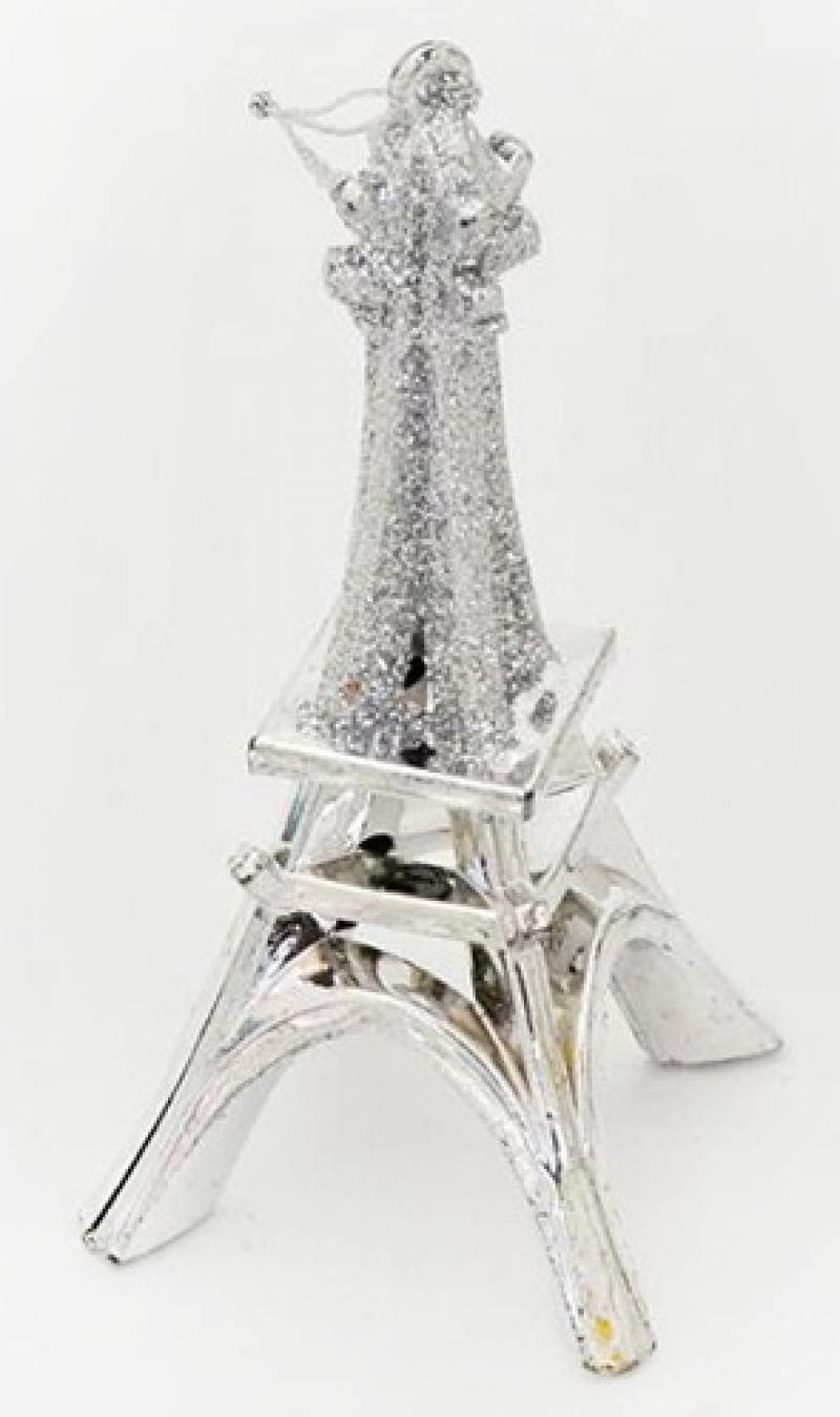 Украшение елочное ЭЙФЕЛЕВА БАШНЯ, 12 см, стекло пазлы magic pazle объемный 3d пазл эйфелева башня 78x38x35 см