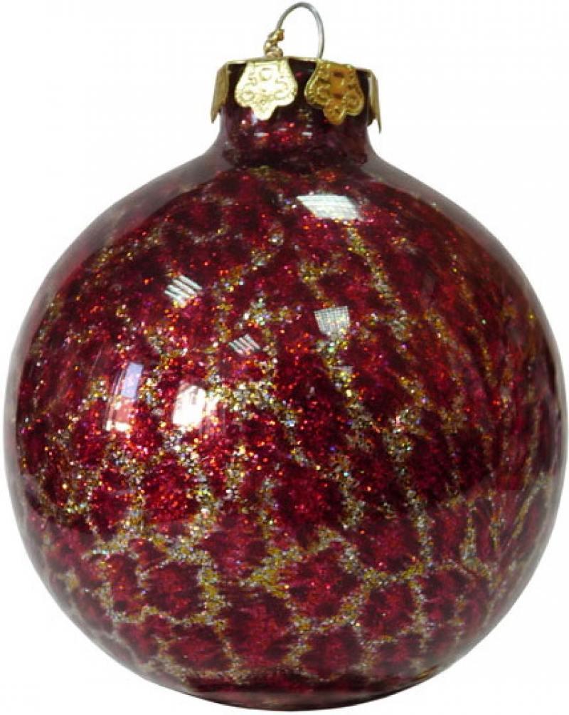 Украшение елочное ШАР, 8 см, стекло|8 елочное украшение телефон цвет cиний 8 см