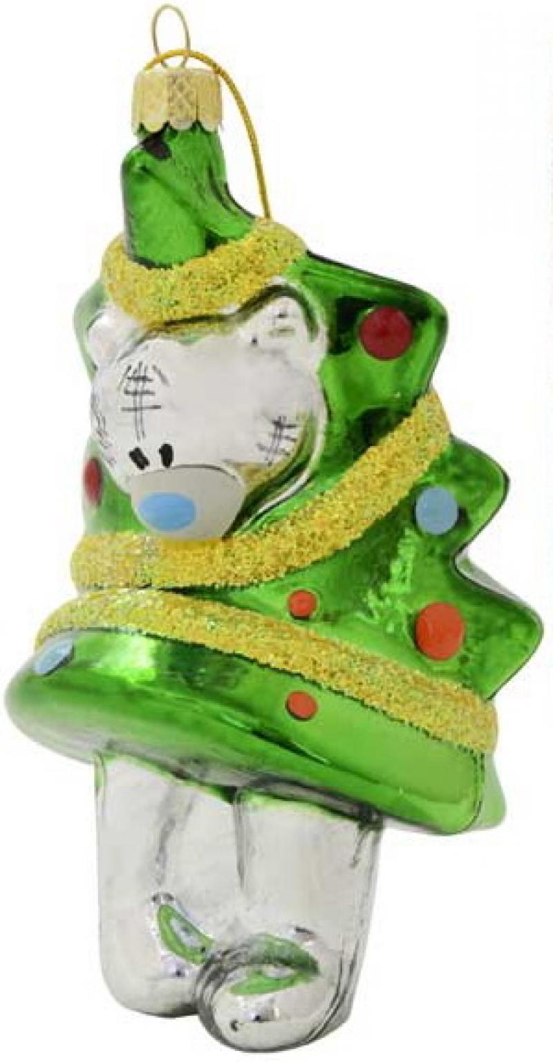 Игрушка елочная Me to you Мишка Тедди, стекло, 11см, в подар.кор. магниты me to you мишка тедди 20х28 см