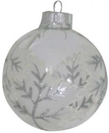 Украшение елочное стеклянное ШАР, 1шт., 7 см|1