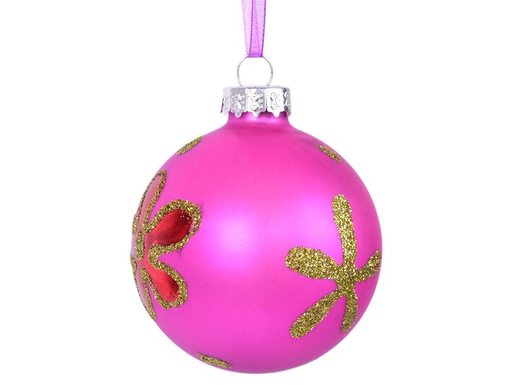 Елочные украшения Winter Wings Цветок 6 см 1 шт фиолетовый стекло N07476 елочные украшения winter wings цветок эльф 19 см 1 шт розовый