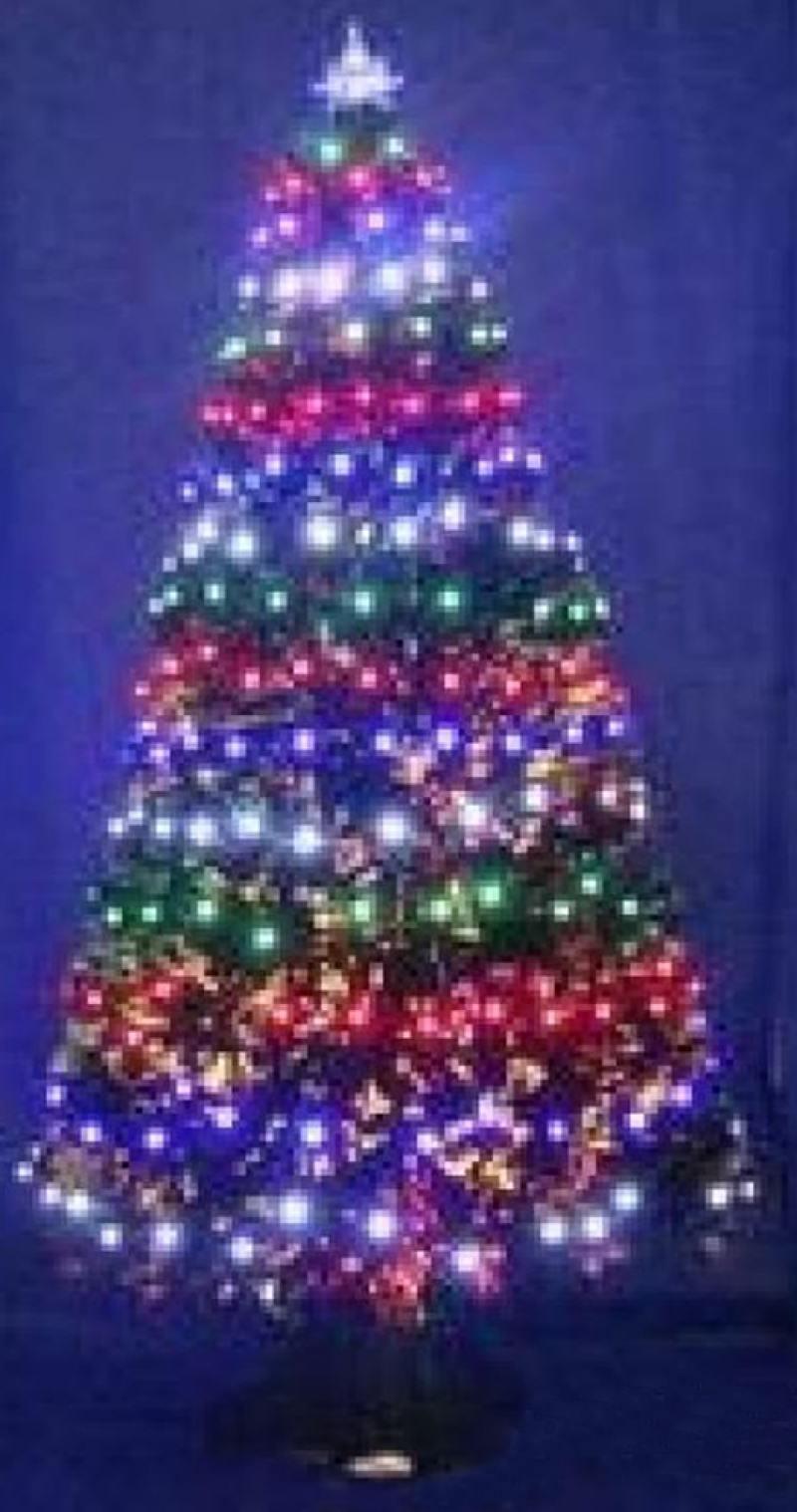 Елка световод с разноцветными супер-яркими лампами, 100 ламп LED,100 веток,90см lamtop 100