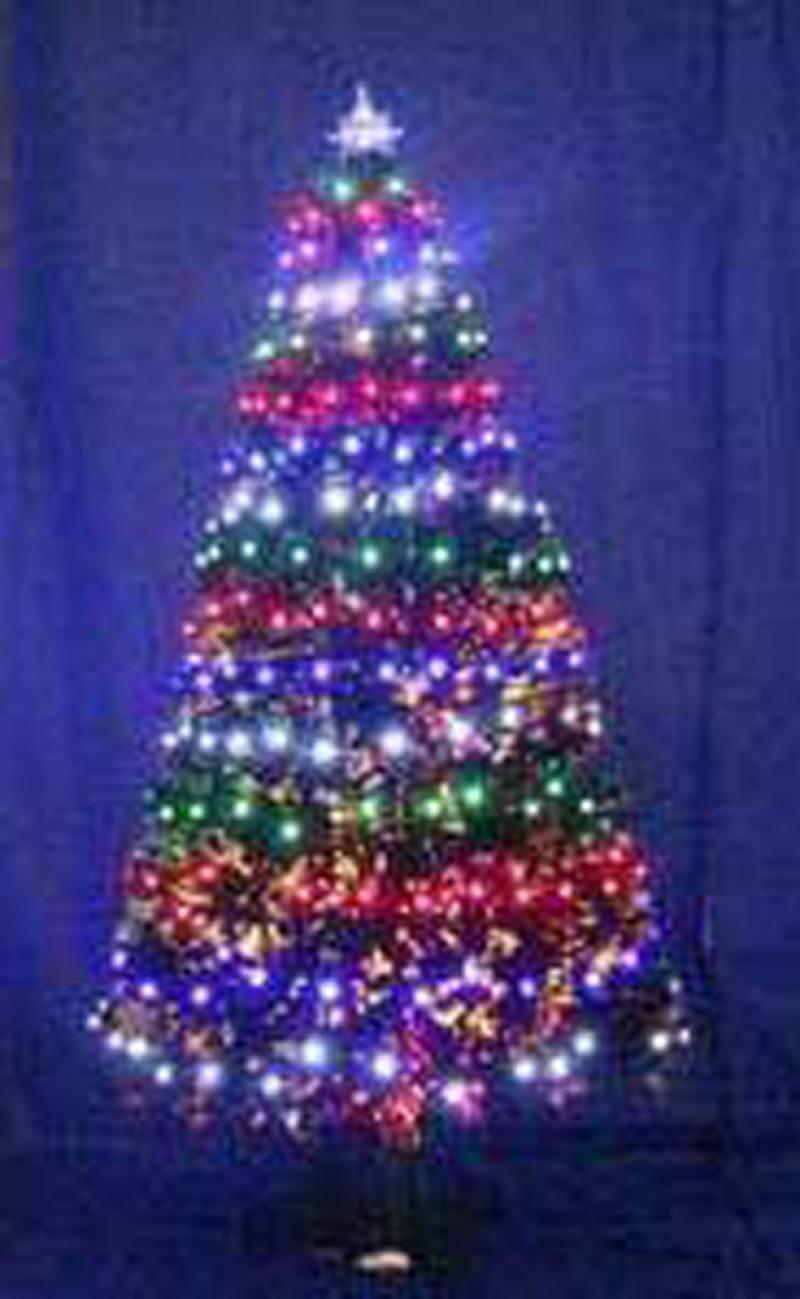 Елка световод с разноцветными супер-яркими лампами, 60 ламп LED,60 веток,60см цена и фото