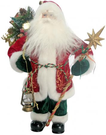 Сувенир ДЕД МОРОЗ с посохом,мешком,фонарем, 40см цены онлайн
