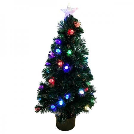 Елка световод с разноцветными супер-яркими шишками, 42 LED шишки,100 веток,90см цена и фото