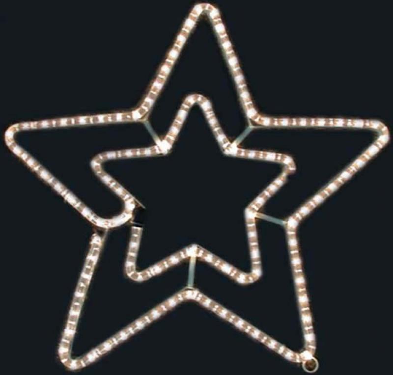 Гирлянда электрическая панно из дюралайта ЗВЕЗДА, 50 см, 90 ламп гирлянда электрическая led звезды на батарейках 90 см 10 ламп