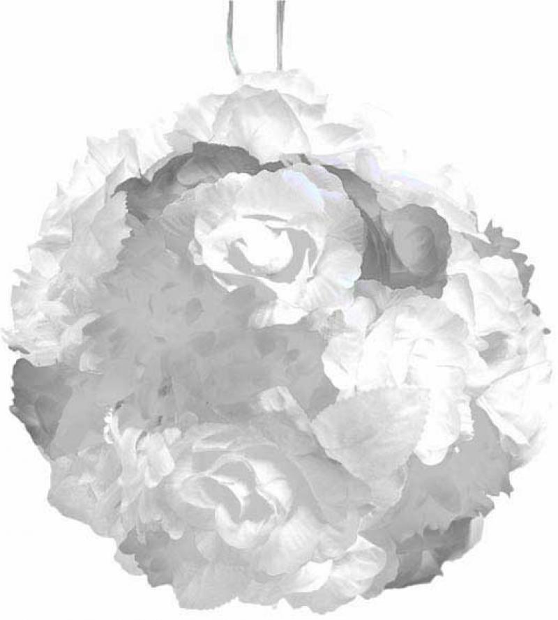 Гирлянда электрическая шар-цветы, 40 ламп, провод 1,50 м, белый гирлянда электрическая новогодняя сказка 100 led портьера уличн белое свечение черн провод 7 реж