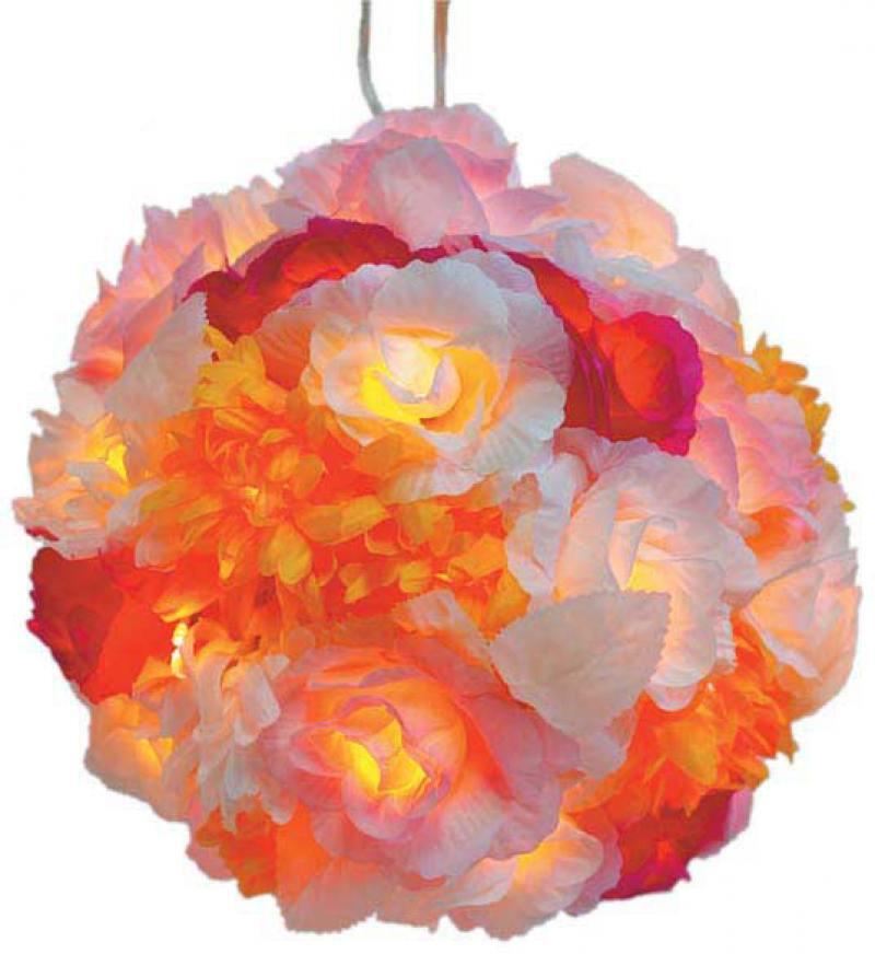 Гирлянда электрическая шар-цветы, 40 ламп, провод 1,5 м, разноцветный N11177 гирлянда light светодиодная нить rgb 10 м 24v чёрный провод