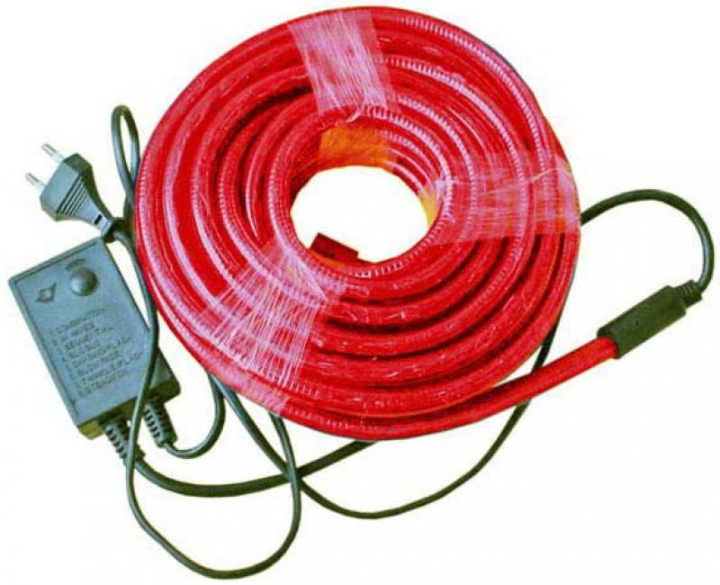 Гирлянда электр. дюралайт, 2 жилы, красный, круглое сечение, диаметр 13 мм, 9м, 216 ламп, с контрол гирлянда мигающая д улицы 9м 120led синий
