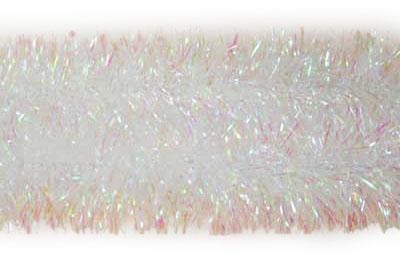 Мишура одноцветная, белая перламутровая, 2 м, 1 шт ручка шариковая aery белая перламутровая стилус 026119 02