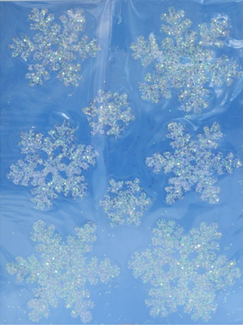 Наклейка панно СНЕЖИНКИ, прозрачная, с блестящей крошкой, 29х40 см, ПВХ murat yener professional java ee design patterns