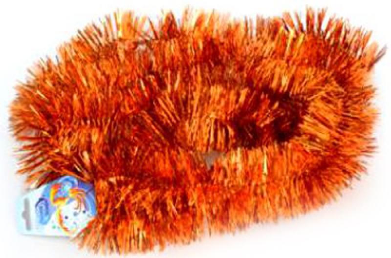 Мишура одноцветная, оранжевая, блестящая, 63 мм, длина 2 м женская обувь на плоской подошве 2015 gommini leacher 35 42