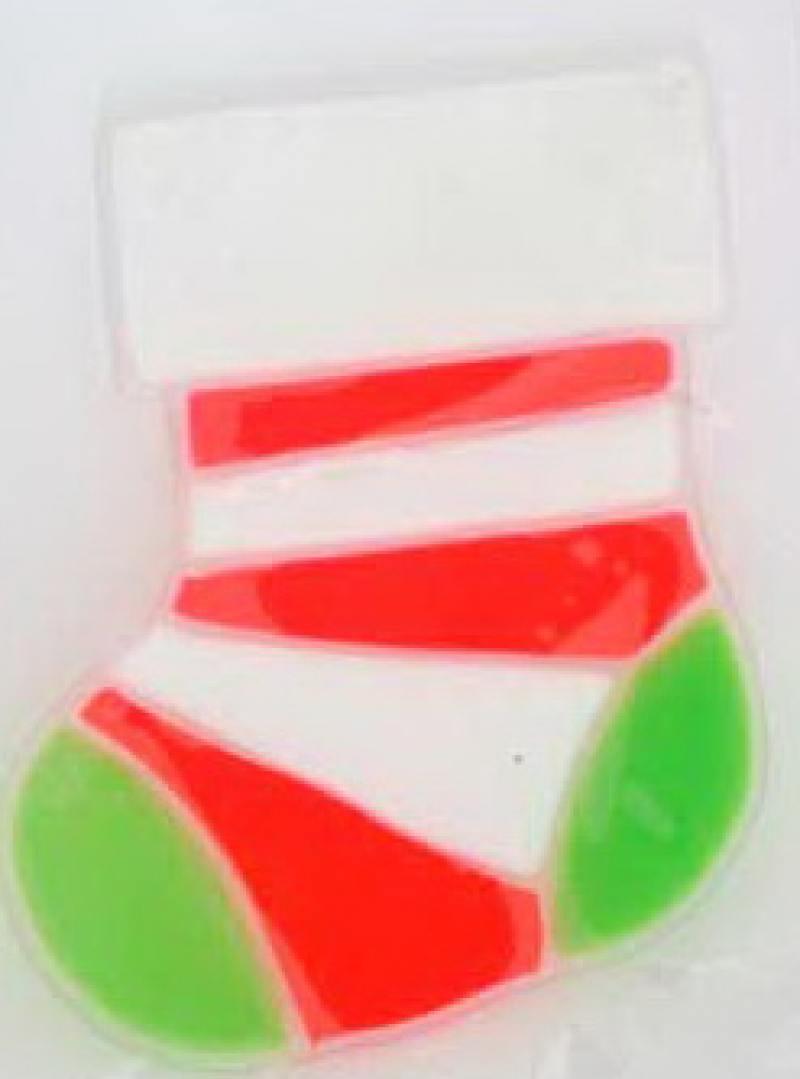 Наклейка декоративная на стекло ВЕСЕЛЫЙ НОВЫЙ ГОД, гелевая, 1 шт. в пакете, 9x12 см., 2 вида мигунова н а веселый новый год книжка вырубка на картоне