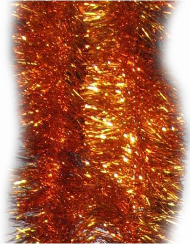 Мишура одноцветная, оранжевая, блестящая, 100 мм, длина 2 м 2 мишура одноцветная голограмма золотая блестящая 100 мм длина 2 м