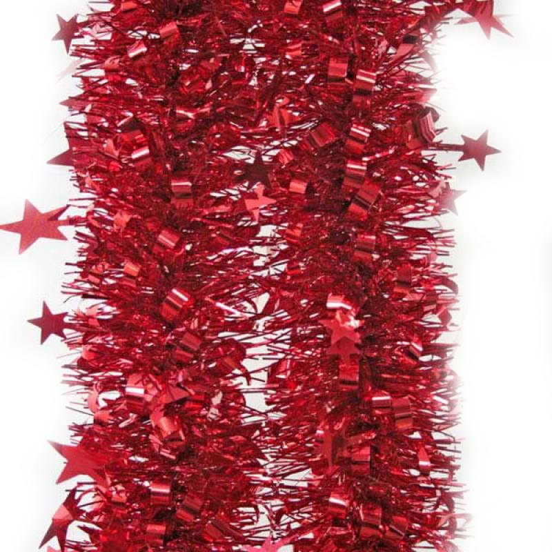 Мишура одноцветная, красная, блестящая, 100 мм, длина 2 м 2 мишура одноцветная голограмма золотая блестящая 100 мм длина 2 м
