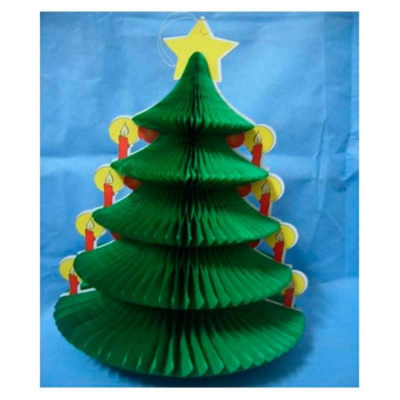 Подвеска декоративная ЕЛКА, 12.5х18 см, бумага подвеска winter wings веселая елка 7 6 см n163202