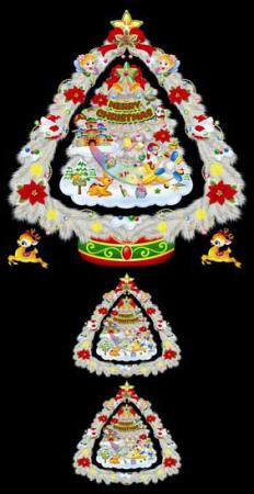 Подвеска декоративная ЕЛКА, 35х54, картон подвеска winter wings веселая елка 7 6 см n163202