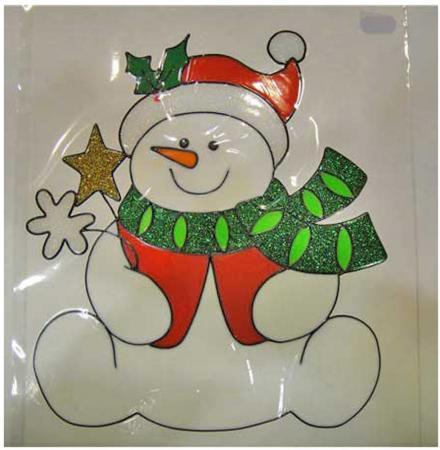 Наклейка-панно гелевая, декоративная, на стекло, 1 шт. в пакете, 17х20 см red line glass для k3