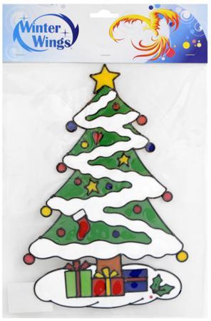 Наклейка-панно гелевая, декоративная, на стекло, 1 шт. в пакете, 23х34 см наклейка winter wings панно гелевая новый год 20х20 см n09302