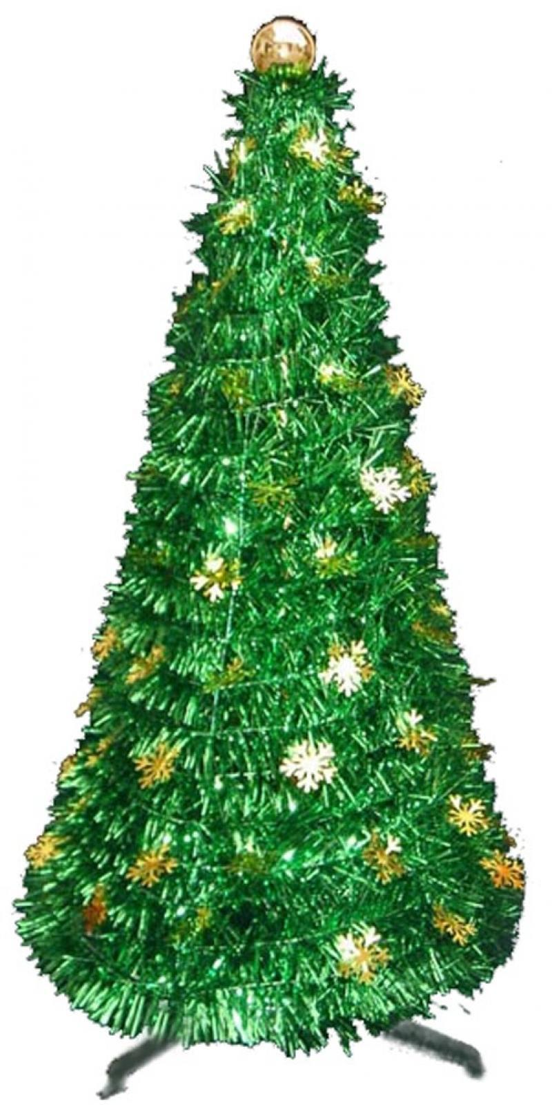 Елка декоративная, металлик, 90 см, цв.в асс. елка декоративная трехцветная украшенная 50 см 3 цв в асс пвх в пакете