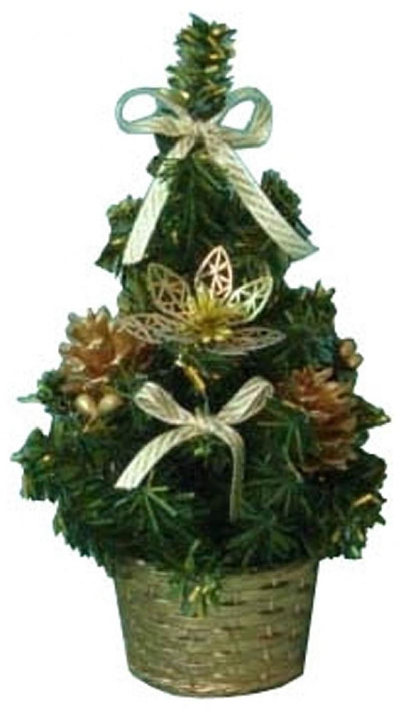 Елка декоративная украшенная, с золотыми украшениями, 20 см puzzle 1000 девушка с золотыми украшениями 29614