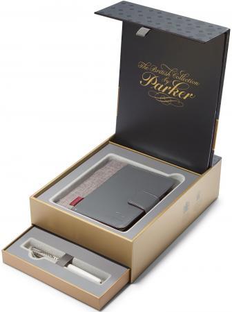 Набор Parker Sonnet F540 ручка перьевая + блокнот 1978401 parker перьевая ручка parker parker s0690560