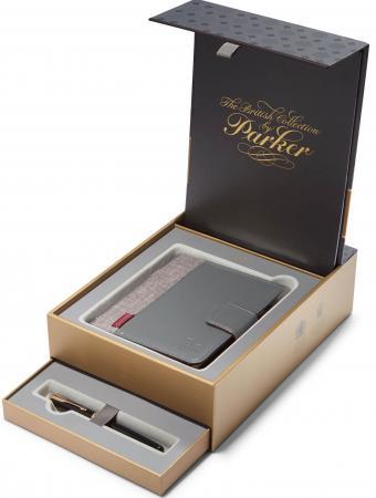 Набор Parker Sonnet F530 ручка перьевая + блокнот 1978402 parker перьевая ручка parker parker s0690560