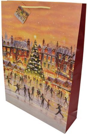 Пакет подарочный бумажный ламинированный, 330х457х102 мм, с блестящей крошкой пакет подарочный бумажный ламинированный 180х230х98 мм с блестящей крошкой с аппликацией
