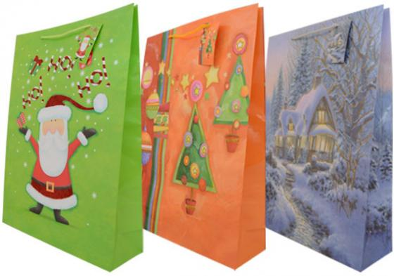 Пакет подарочный бумажный ламинированный, 330х460х102 мм, с блестящей крошкой|2 пакет подарочный бумажный ламинированный 180х230х98 мм с блестящей крошкой с аппликацией