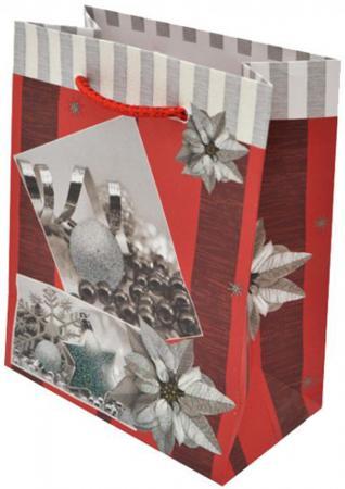 Пакет подарочный бумажный крафт, 111х137х62 мм цена