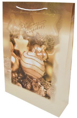 Сумка бумажная ламинированная ШАР НА ЕЛКЕ, 46X33X10 51mm inside 30pcs 4 colors high quality diy handbag bag silver light gold metal accessory arch bridge connector hanger