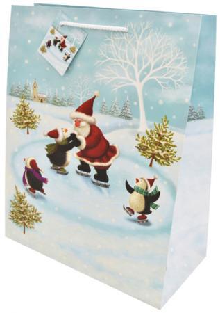 Пакет подарочный бумажный ламинированный, 260х324х127 мм, с блестящей крошкой|2 пакет подарочный бумажный ламинированный 180х230х98 мм с блестящей крошкой с аппликацией