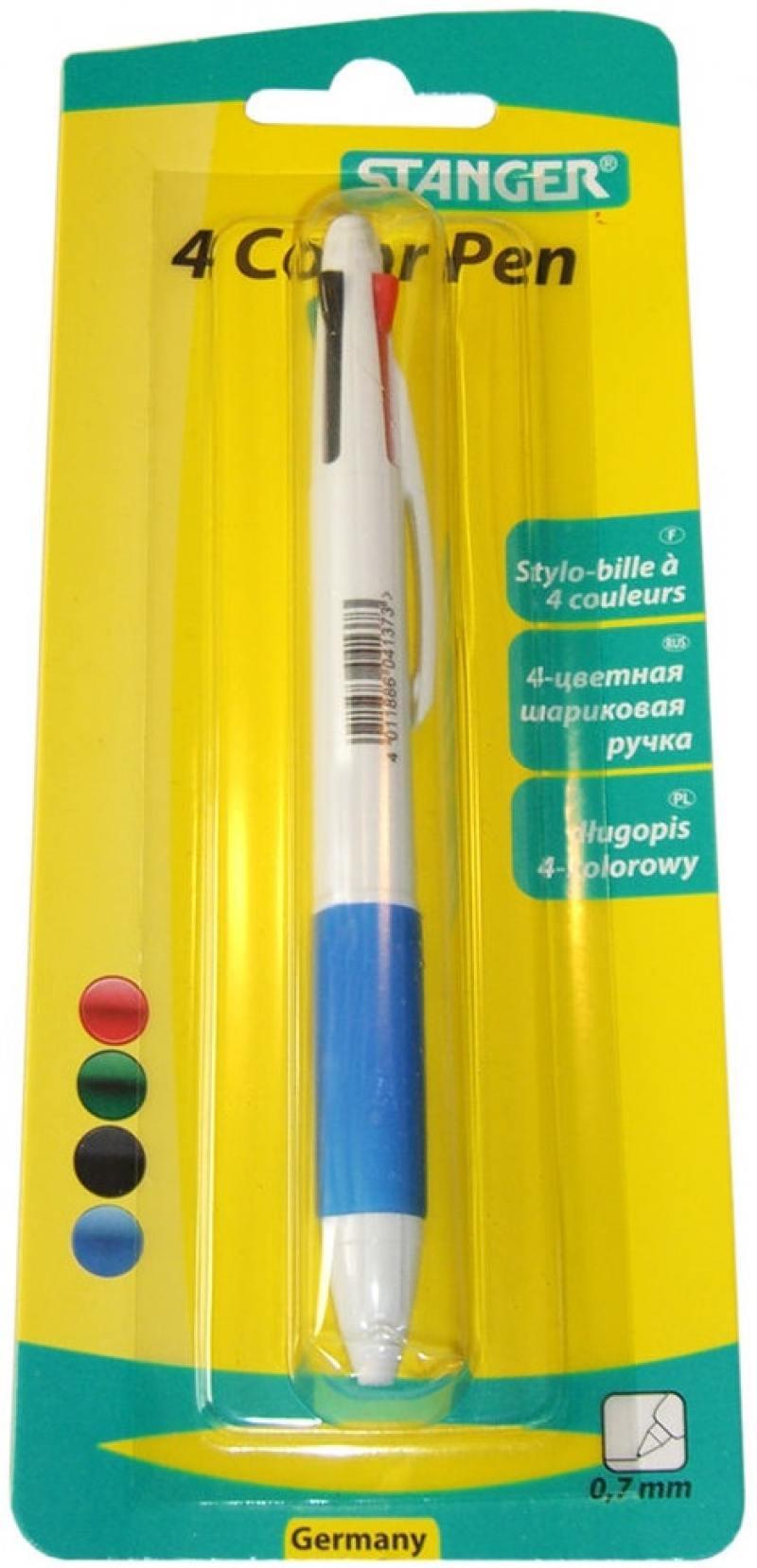 Шариковая ручка автоматическая Stanger 18000300036 синий красный черный зеленый 0.7 мм 18000300036 alexika trekking 60