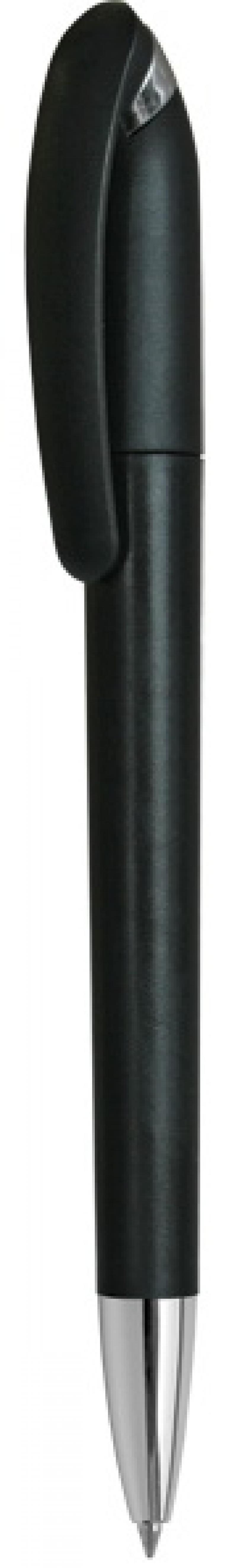 Авторучка шариковая APPLICA, пластиковый корпус, поворотный механизм, 0,5 мм, синяя, корпус черный