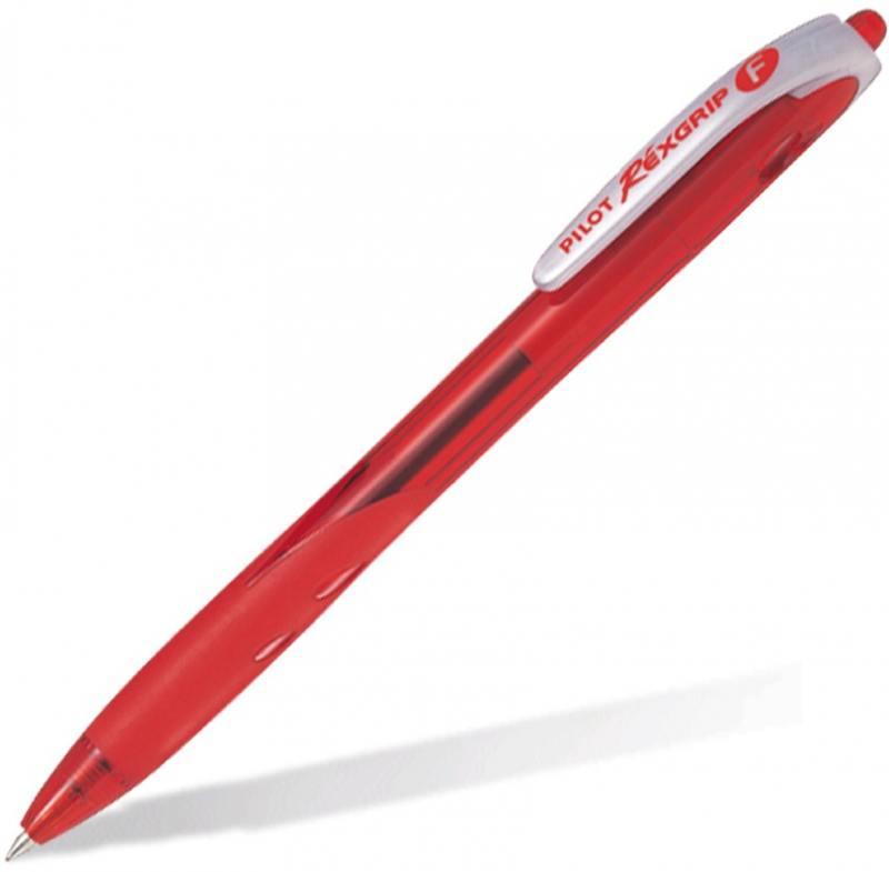 Шариковая ручка автоматическая Pilot REXGRIP красный 0.3 мм BPRG-10R-F-R BPRG-10R-F-R