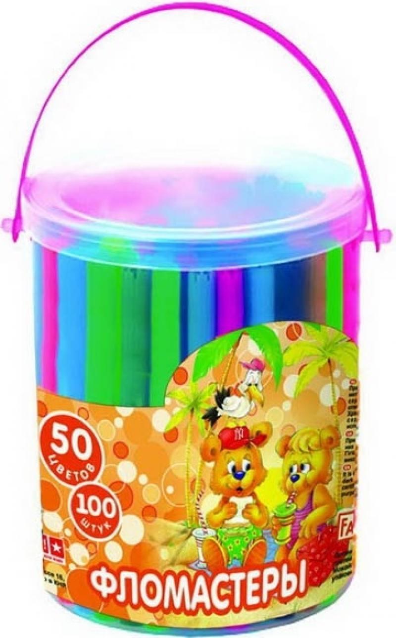 Набор фломастеров Action! Fancy 100 шт разноцветный FWP130-50/D в ассортименте FWP130-50/D набор фломастеров action fancy 2в1 20 шт разноцветный
