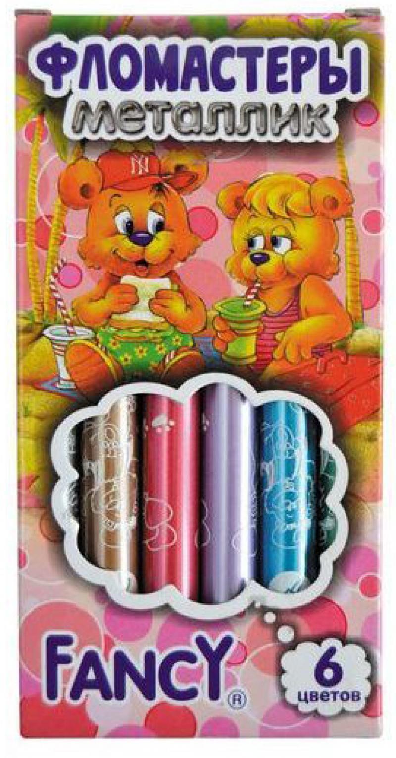 Набор фломастеров Action! FANCY 6 шт разноцветный FWP430-6 FWP430-6 набор фломастеров action fancy 2в1 20 шт разноцветный