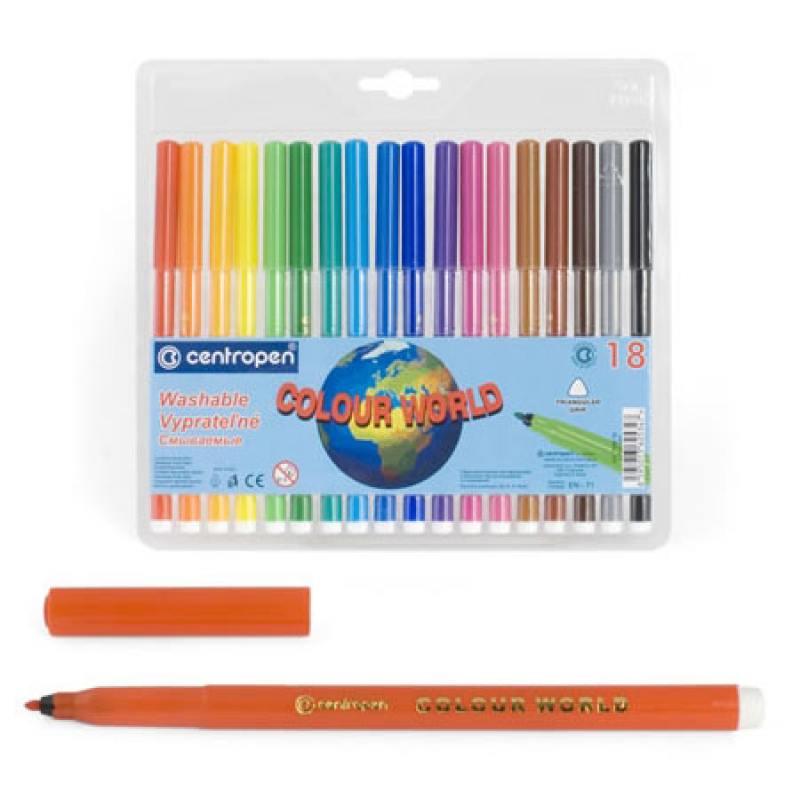 Фото - Набор фломастеров Centropen COLOUR WORLD 30 шт разноцветный 7550/30 TP 7550/30 TP centropen набор смываемых фломастеров colour world 18 цветов