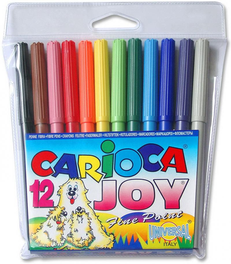 цена на Набор фломастеров Universal CARIOCA JOY 12 шт разноцветный 40531/12 40531/12