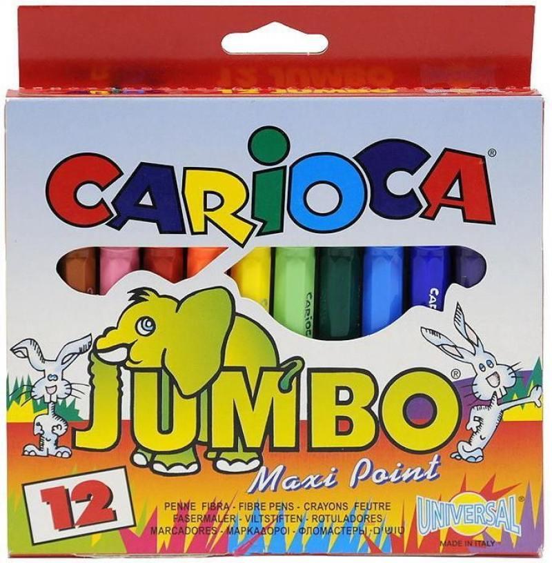 Фото Набор фломастеров Universal CARIOCA JUMBO 12 шт разноцветный 40569/12 40569/12