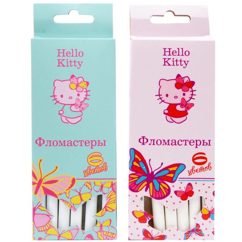 Набор фломастеров Action! Hello Kitty 6 шт разноцветный HKO-AWP205-6 в ассортименте HKO-AWP205-6 набор свечей тигренок с подсолнухом 9х6 см 6 шт
