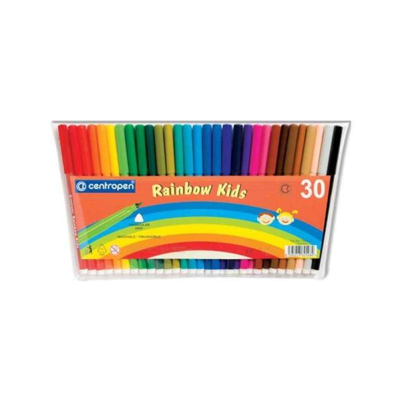 Набор фломастеров Centropen RAINBOW KIDS 30 шт разноцветный 7550/30 7550/30 30 3000r