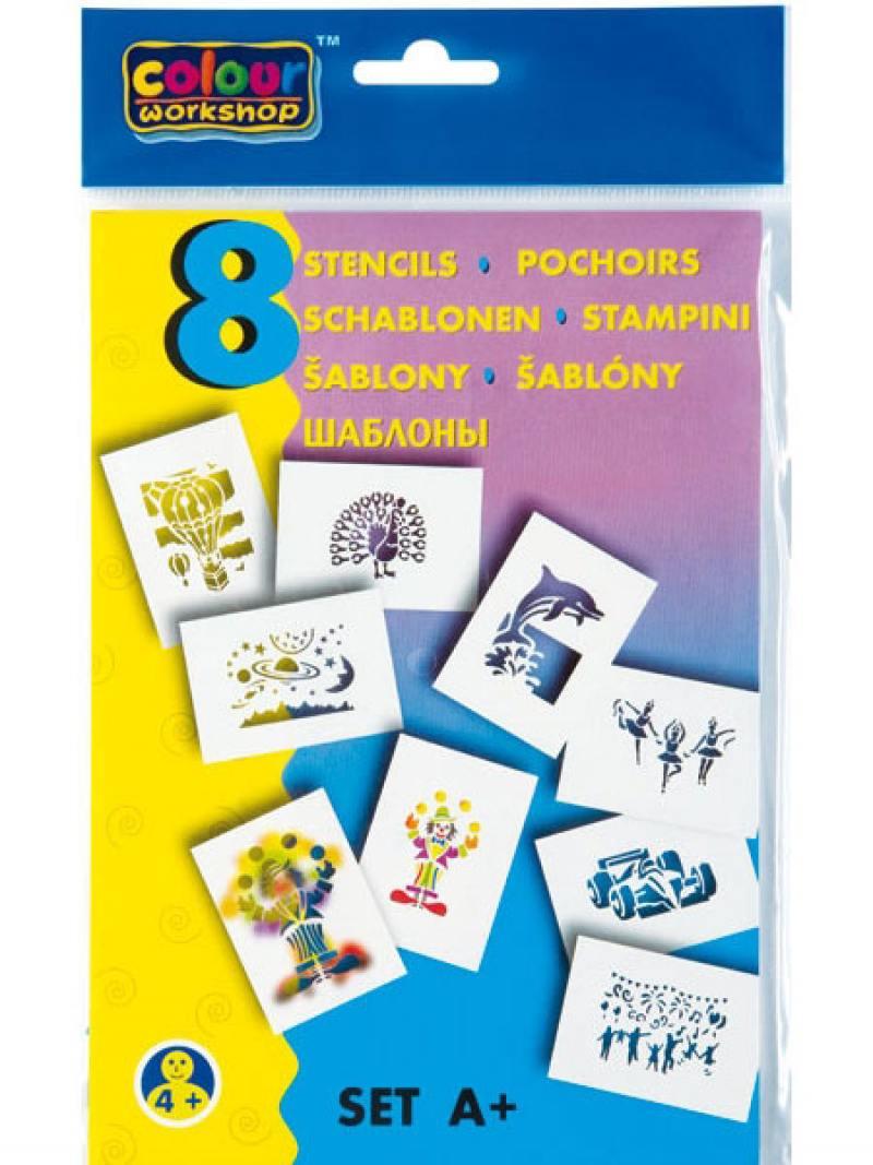 Набор трафаретов ПРАЗДНИК для воздушных фломастеров 9996/A фломастер centropen мотивы природы разноцветный 9996 c