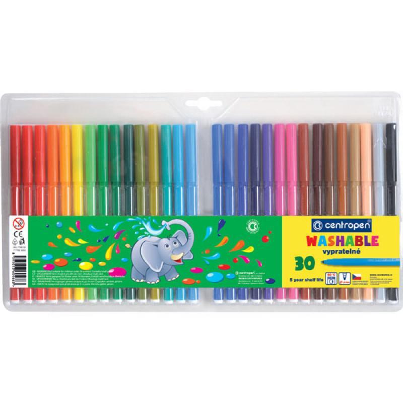 Набор фломастеров Centropen 7790/30 TP 30 шт разноцветный 7790/30 TP набор фломастеров centropen пингвины 30 шт разноцветный 7790 30 86 7790 30 86