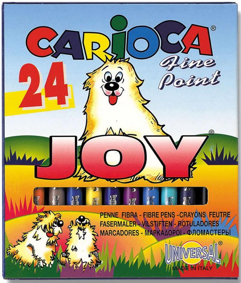 Набор фломастеров Universal CARIOCA JOY 2 мм 24 шт разноцветный 40615/24 40615/24 набор свечей для торта классика 24 шт 6см с держателями